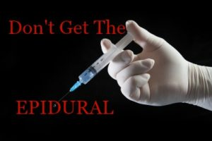 No epidural during labor
