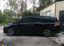 2018 Honda Odyssey Elite at home; black with mocha interior - how I was persuaded out of my Porsche | www.sahmplus.com