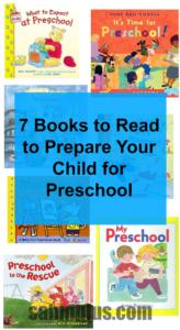 7 books going to preschool