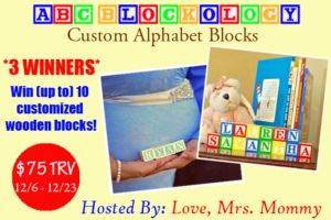 ABCBlockology giveaway