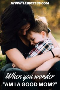 Am I a good mom? I believe you're a good mom and there's one reason why. Share this or tag a good mommy to let them know you notice the struggle or believe they're a good mom too.   www.sahmplus.com