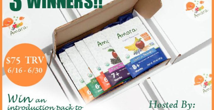 Amara Organic Baby Food Giveaway - 3 winners