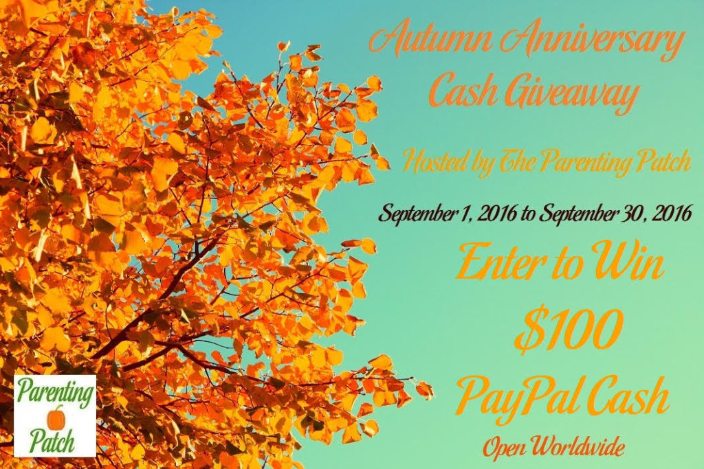 autumn anniversary cash giveaway