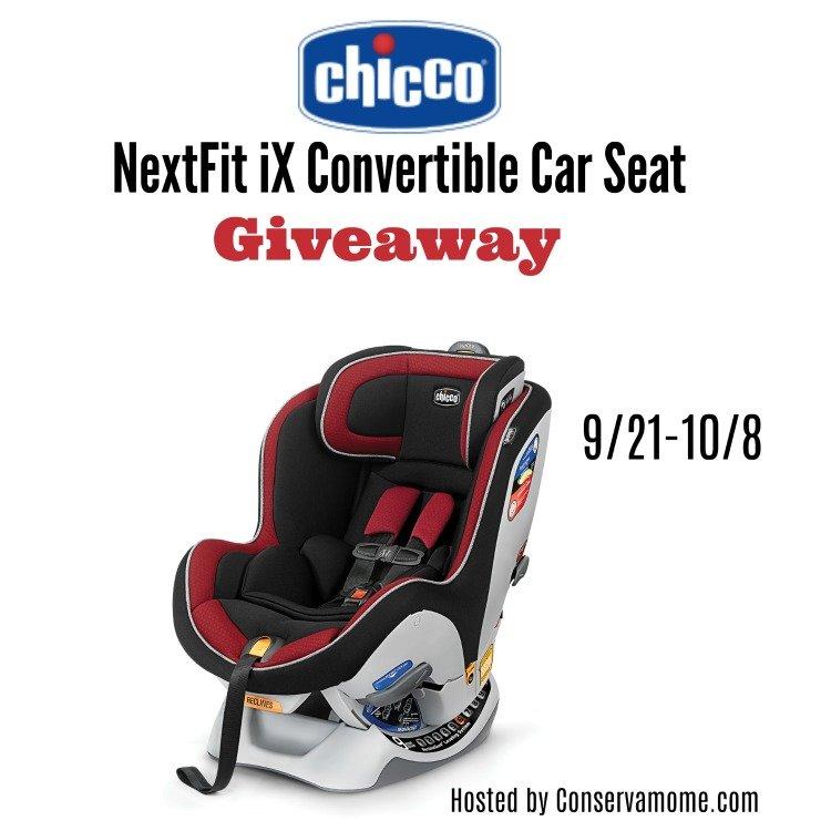 Chicco NextFit ix Giveaway ends Oct 8, 2017 www.sahmplus.com