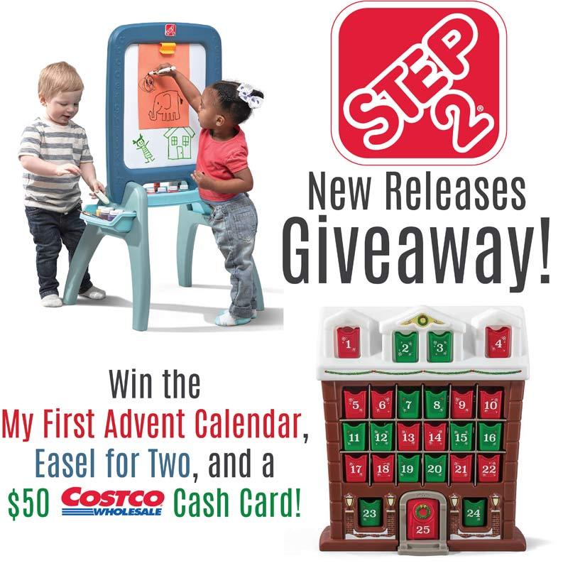 Step2 Easel and Advent Calendar 2018 Giveaway plus $50 Cosco Cash