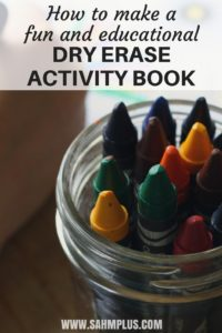 DIY dry erase activity book - educate and entertain the kids with a fun dry erase activity book they can use over and over again | www.sahmplus.com