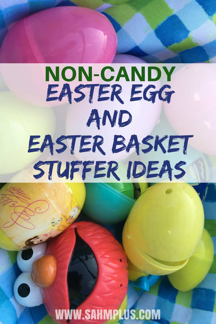Awesome non-candy Easter egg and basket stuffers your kids will still love. And these candy-free Easter items will make mom and dad happy, too! | www.sahmplus.com