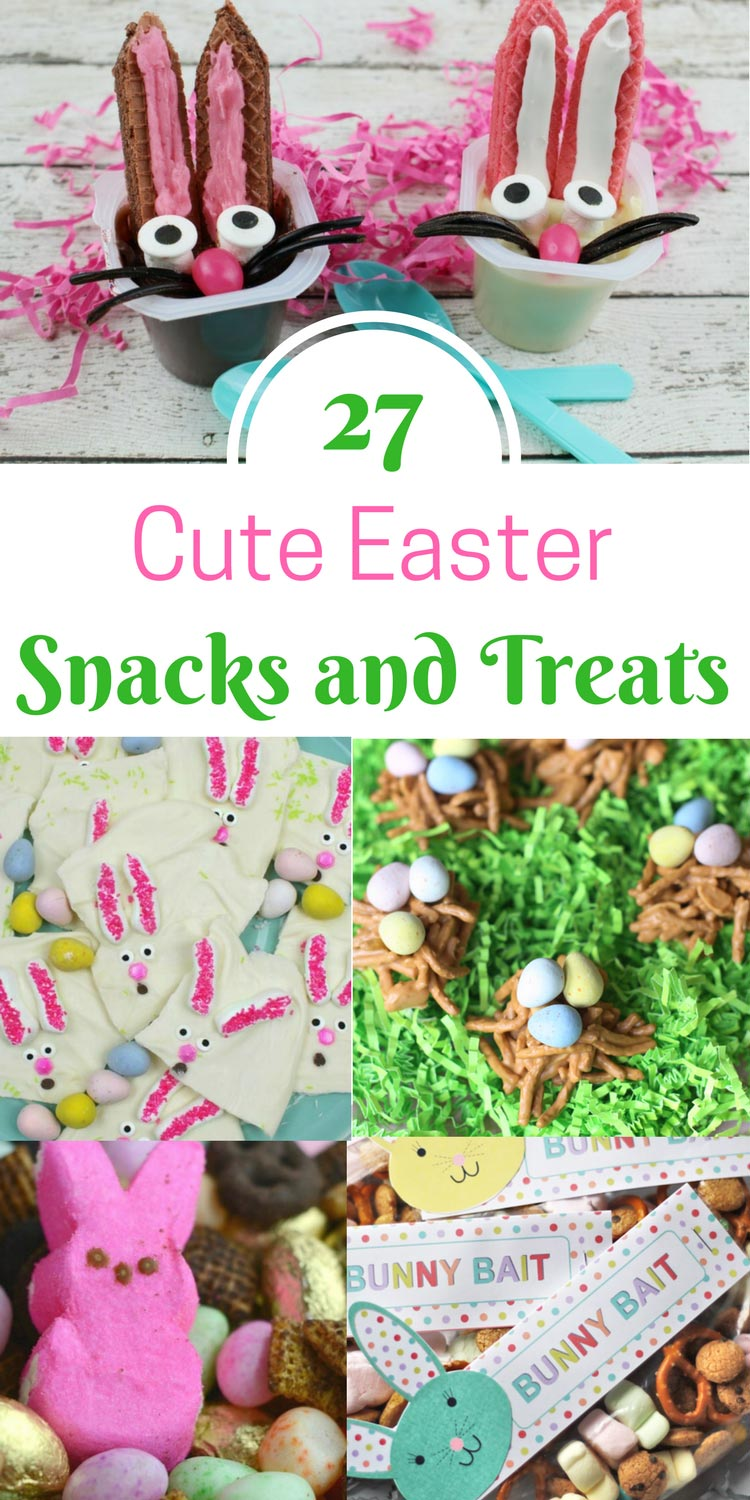 27 cute Easter treats you need to make this year. Easy and cute Easter snacks and treats for the kids | www.sahmplus.com