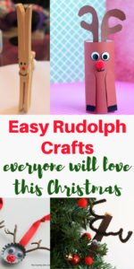 Over 20 easy Rudolph crafts for just about everyone in the family to choose from and make. These Christmas reindeer crafts aren't just for the kids! | www.sahmplus.com