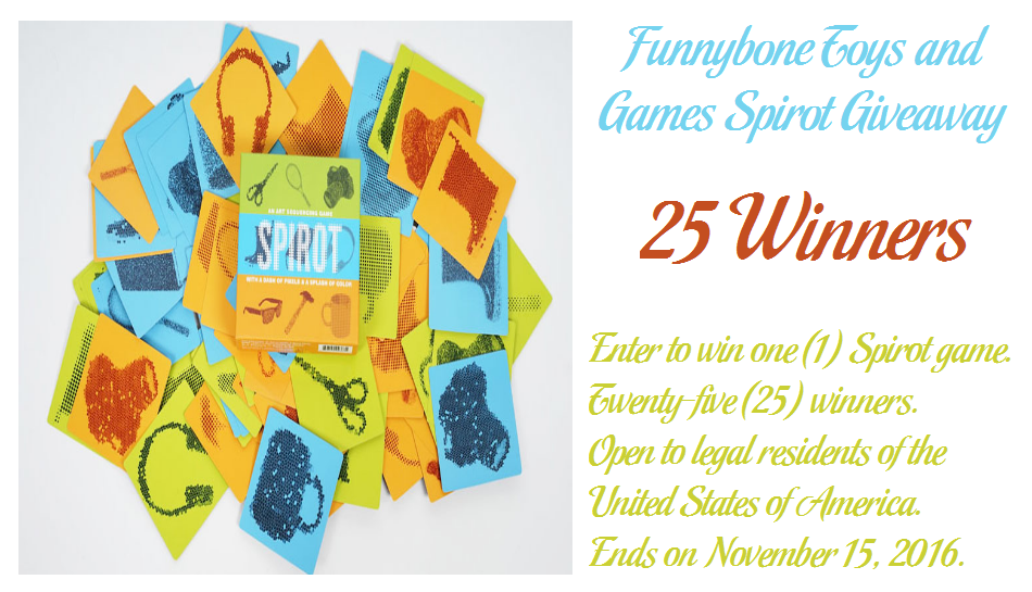 Funny Bone Toys Games Spirot Giveaway