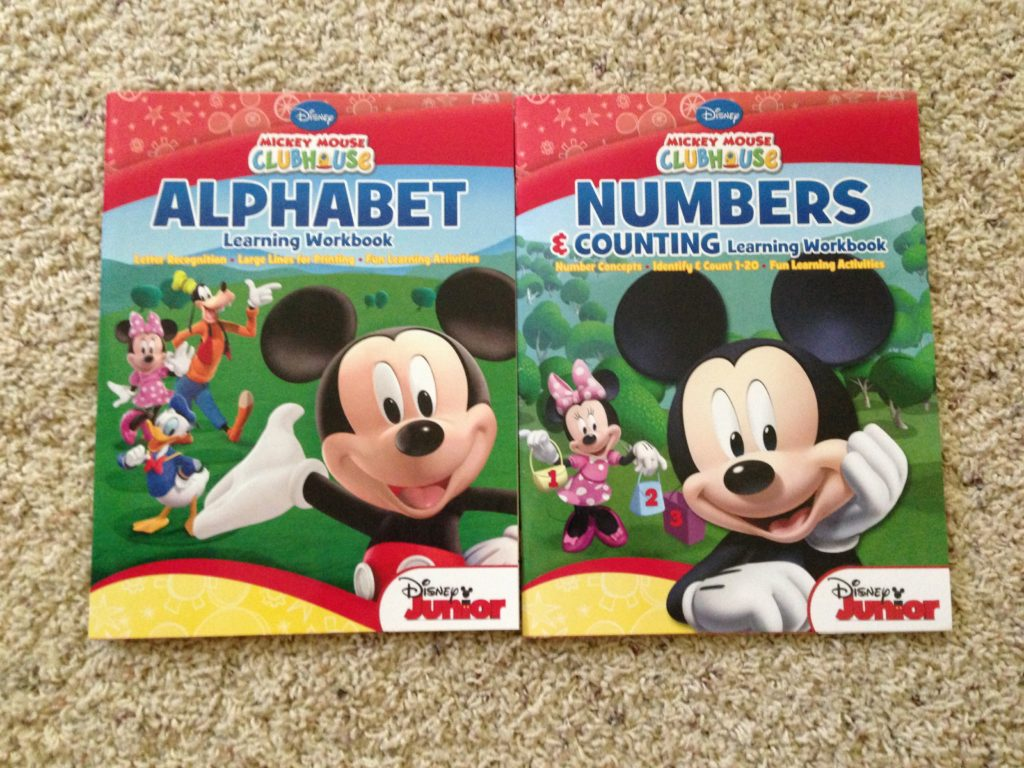 Mickey Disney educational workbooks