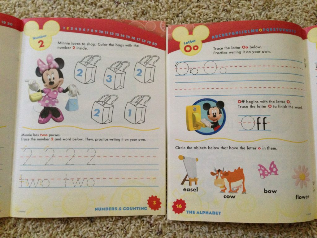 educational workbooks with tear out sheets