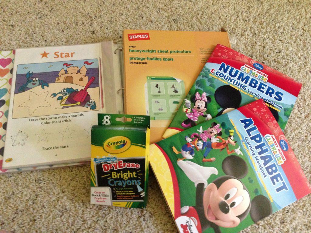 diy preschool educational dry erase activity book for kids