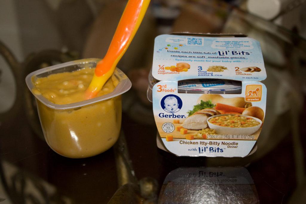Gerber itty bitty noodle baby food #GerberBabies