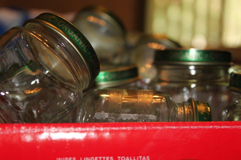 baby food jars overflowing box