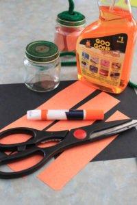 baby food jar pumpkin craft supplies