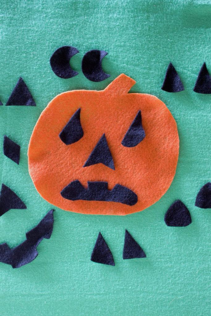 complete halloween pumpkin felt activity