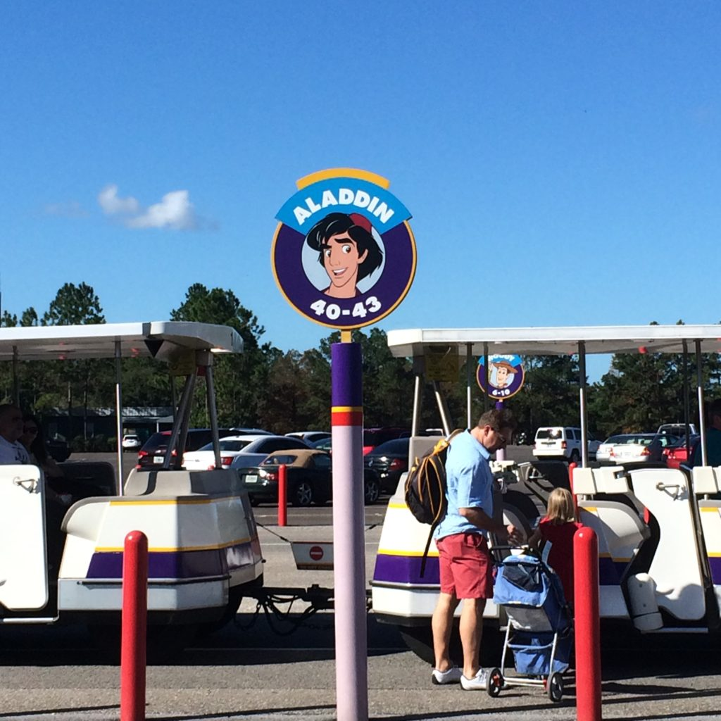 parking at magic kingdom - parking tip for disney world with a toddler or preschooler
