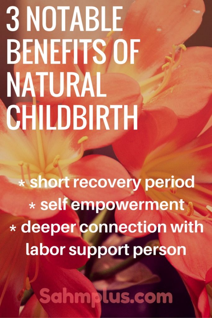 benefits of natural childbirth