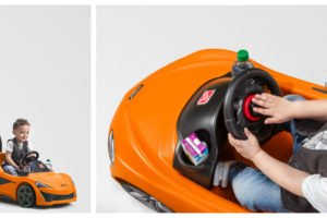 Step2 McLaren 570S push sports car collage for giveaway