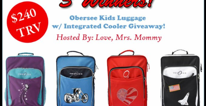Obersee Kids Luggage Giveaway