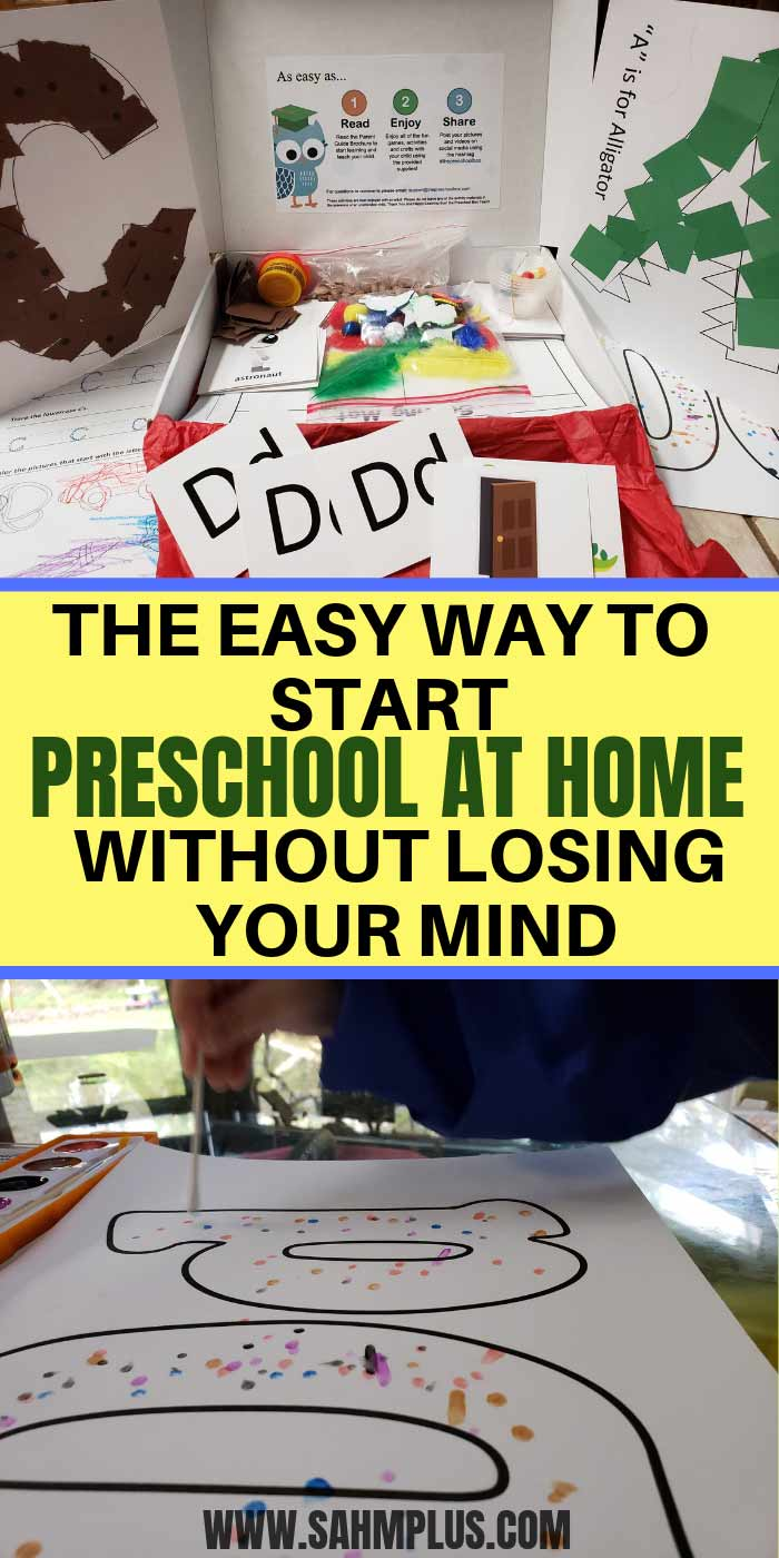 How parents can try preschool at home with fun and easy activities from The Preschool Box   sahmplus.com