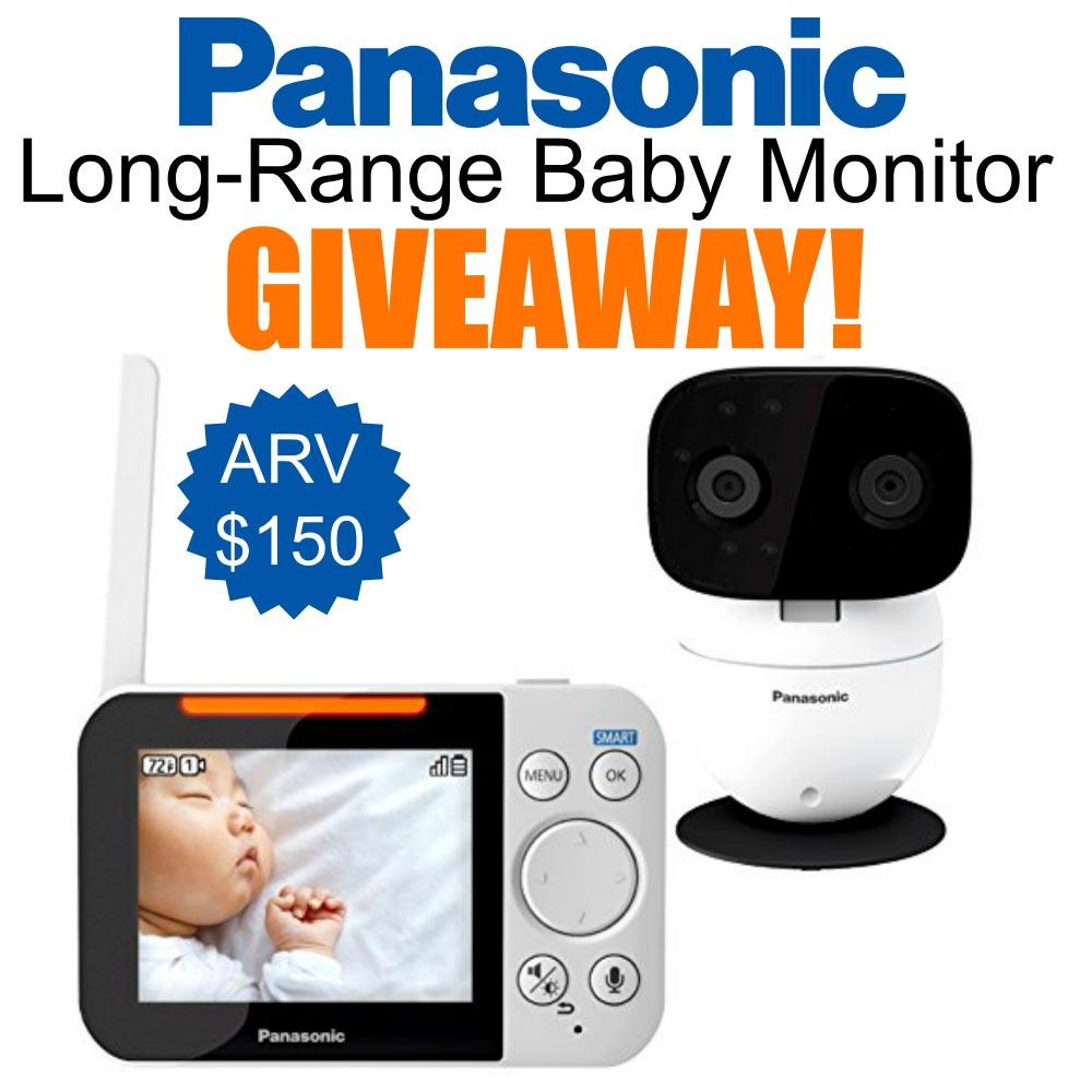 panasonic long-range baby monitor giveaway image