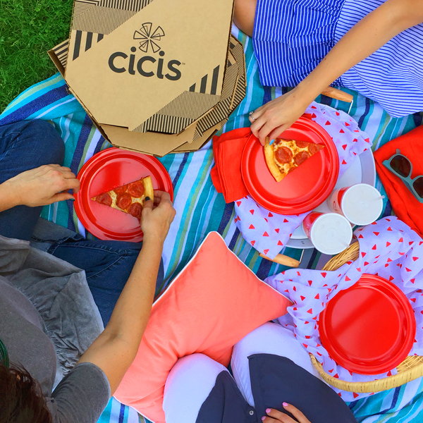 Summer 2017 Picnic overhead image for Cicis Picnic Fun Giveaway