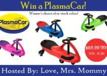 Original Plasma Car Giveaway www.sahmplus.com