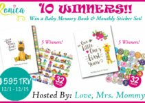 baby book and baby stickers Ronica Giveaway