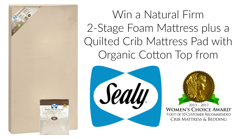Sealy Quiclted Crib Mattress Giveaway - get baby to sleep or transition to toddler bed www.sahmplus.com
