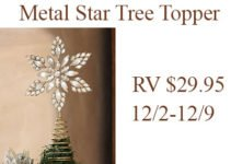 The history of the star tree topper and a soft surrounding metal star tree topper giveaway | www.sahmplus.com