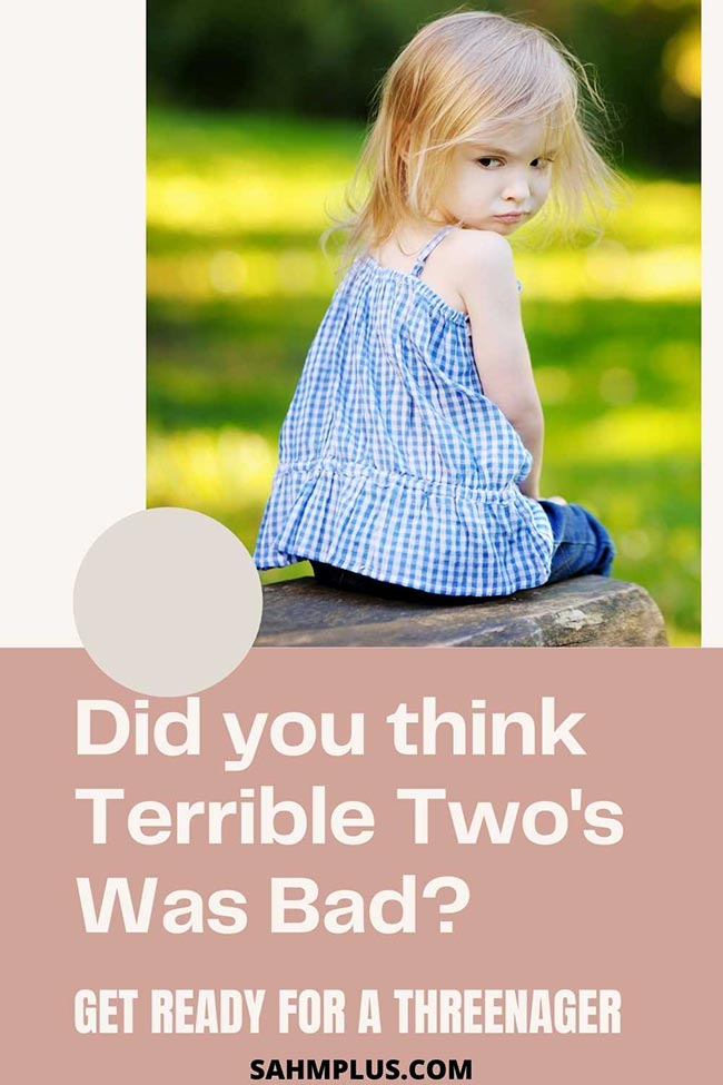 There's always talk about the terrible two's, but I wasn't prepared for a threenager!