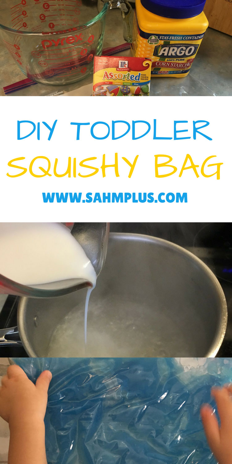 DIY Toddler Squishy Bag recipe and instructions for a fun toddler activity