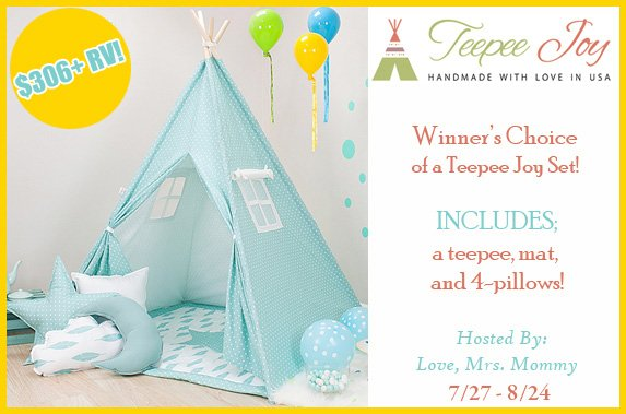 Teepee Joy Giveaway image