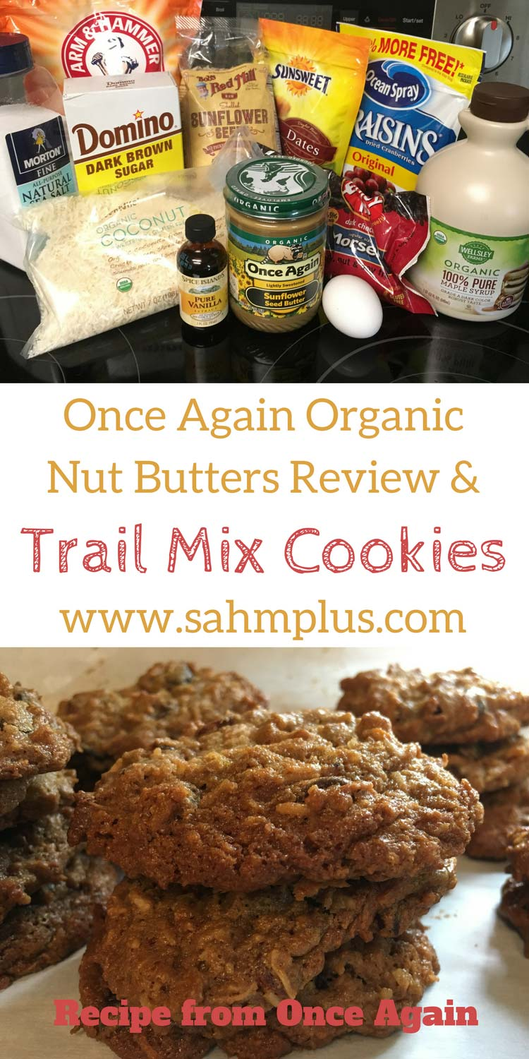 How amazing are Once Again Nut Butters? Plus their recipe for Trail Mix Cookies. #sponsored #MomsMeet