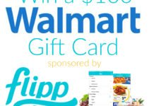$100 Walmart Gift Card giveaway sponsored by flipp app | www.sahmplus.com