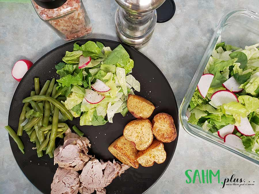 1 dinner from our 1st week PlateJoy Review | sahmplus.com