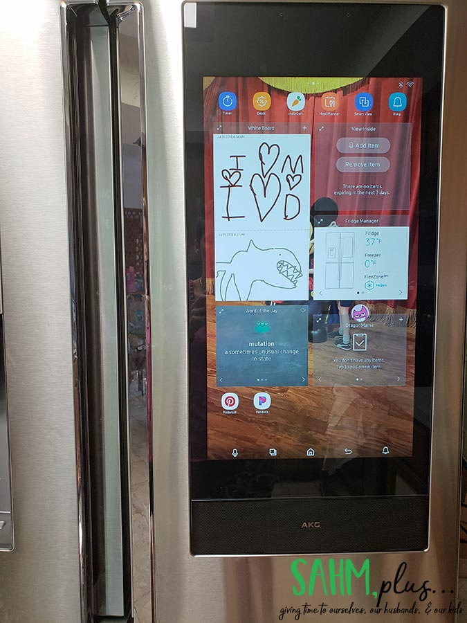 apps on high tech fridge | sahmplus.com