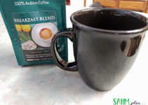 photo of bag of coffee and black coffee mug | sahmplus.com