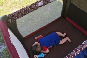 Sacred nap time - baby naps outside