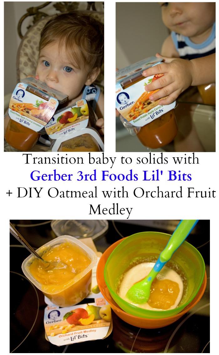 Feeding baby solids Gerber 3rd Foods Lil' Bits #GerberBabies