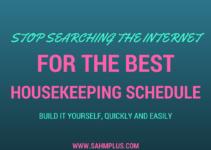 best housekeeping schedule DIY