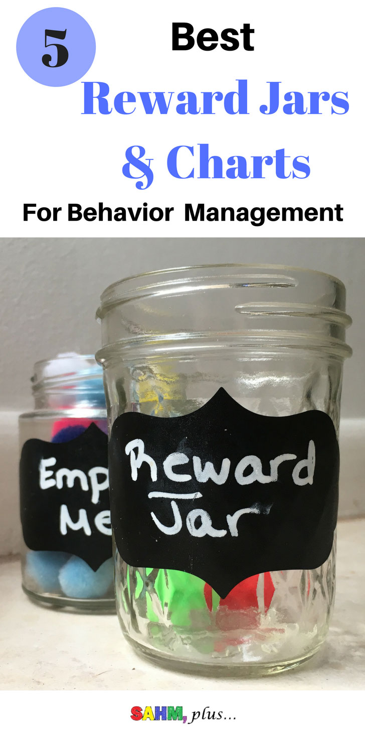 The consequence and reward jar system is the most effective child behavior management system I've found yet. Either make your own reward jar or check out this list of 5 of the best reward jars and charts to accompany the consequence jar. Round out the consequences with rewards for good behavior. | www.sahmplus.com