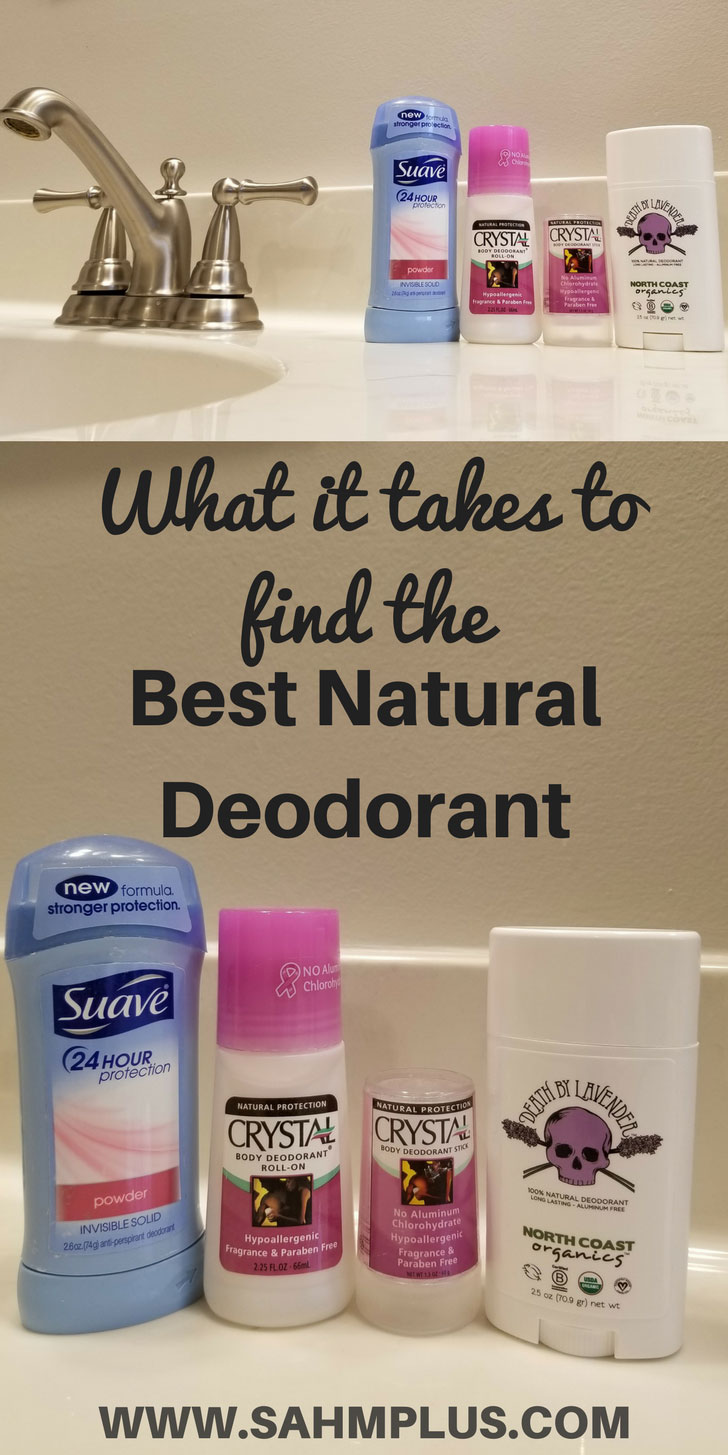 Finding the best natural deodorant wasn't easy! Here's the crazy year I spent switching to aluminum free deodorant and what I found to work ... finally | www.sahmplus.com