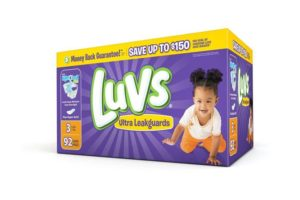 Box of Luvs with new Night Lock Plus save money necessities for baby