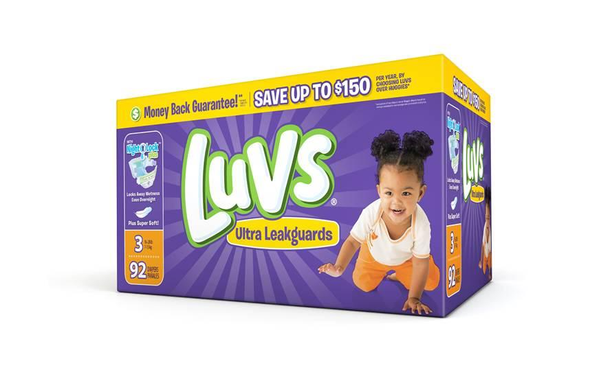 Box of Luvs with new Night Lock Plus