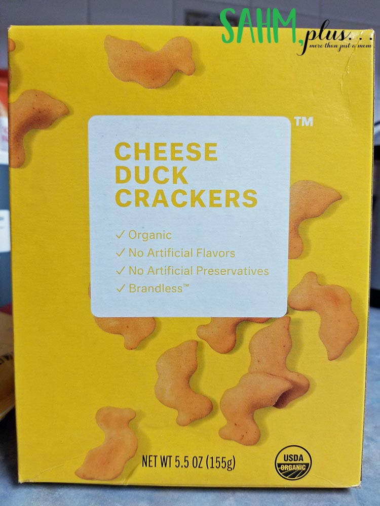 Brandless organic cheese duck crackers non-GMO snack for $3 | www.sahmplus.com