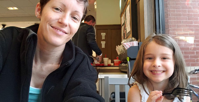 Breakfast at ChickFilA on a failed mommy daughter date | sahmplus.com