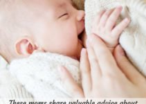 A breastfeeding baby - pin image for How to breastfeed a baby - a collection of the most helpful advice from moms who want you to succeed at breastfeeding your newborn and beyond   www.sahmplus.com
